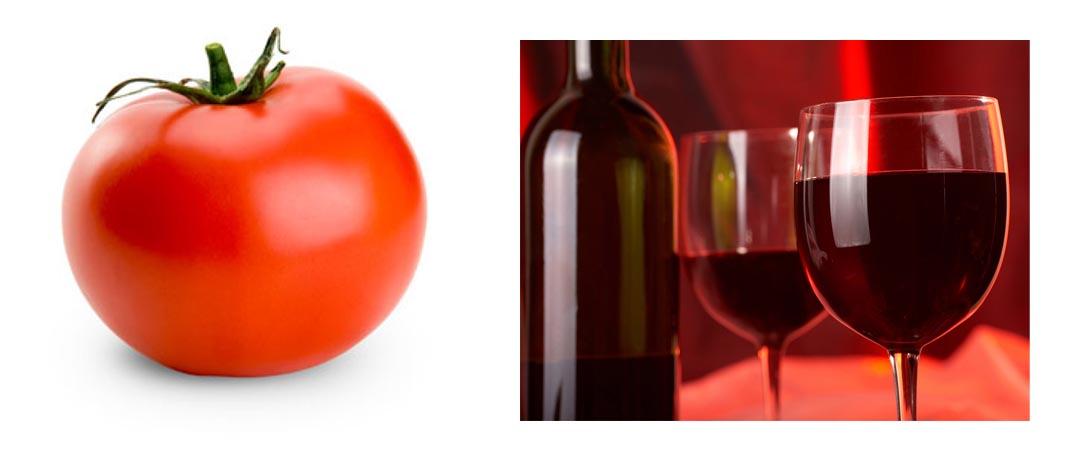 Ντομάτα με κρασί Μαυροδάφνη