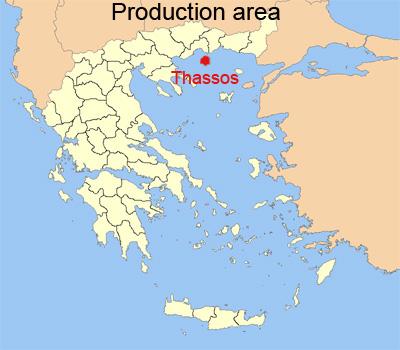 Karte von Thassos